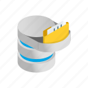data, database, information, internet, isometric, storage, technology icon
