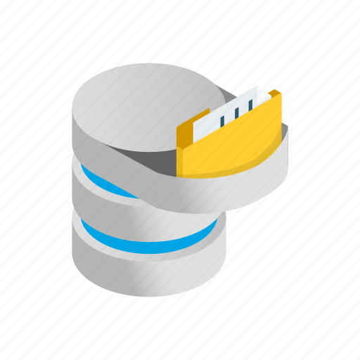 Data, database, information, internet, isometric, storage, technology icon - Download on Iconfinder