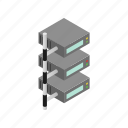 data, database, internet, isometric, server, storage, technology icon