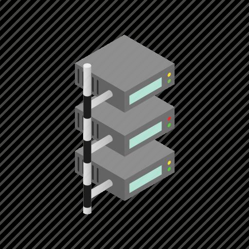 data, database, internet, isometric, server, storage, technology icon