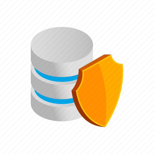 Data, database, internet, isometric, shield, storage, technology icon - Download on Iconfinder