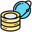 algorithms, big, data, information, processing icon
