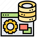 application, connection, database, software, system icon