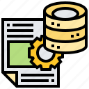 data, document, file, information, storage icon
