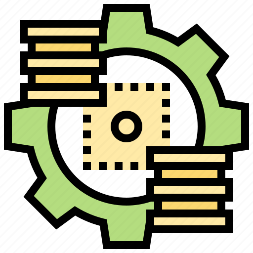database, engine, network, platform, storage icon