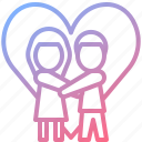 couple, heart, love, romantic, wedding icon