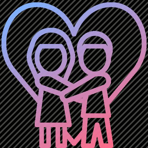 couple, heart, love, romantic, wedding icon