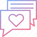 chat, flirt, love, message, romantic icon