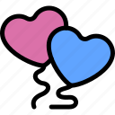 balloons, date, love, night, romantic icon