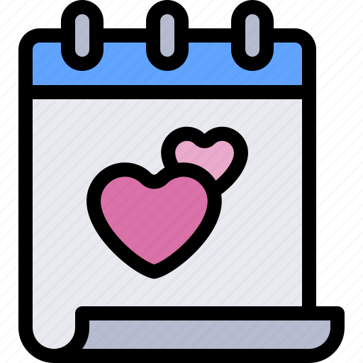 calendar, date, love, night, romantic icon