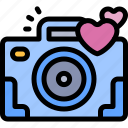 camera, date, love, night, romantic icon