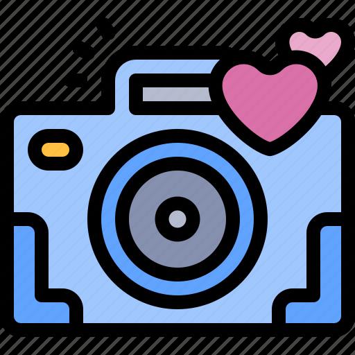 camera, date, love, night, romantic icon