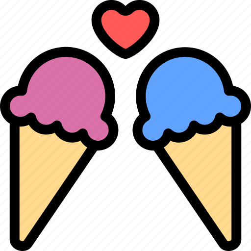 creams, date, ice, love, night, romantic icon