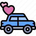 car, date, love, night, romantic icon