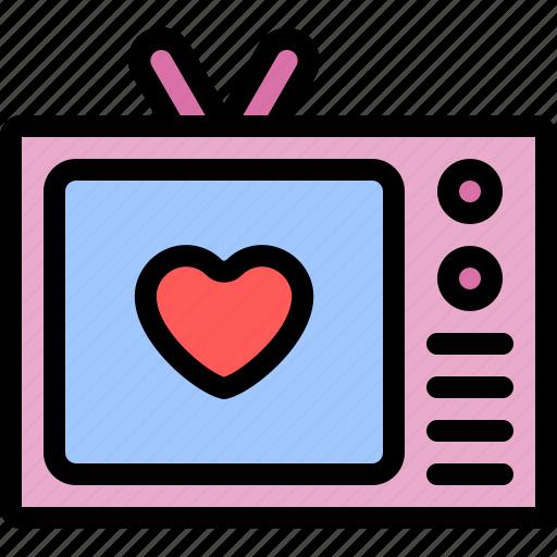 date, love, night, romantic, television icon