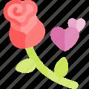 date, love, night, romantic, rose icon