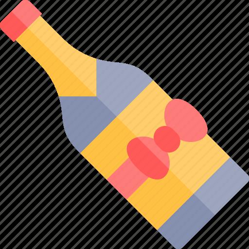 champagne, date, love, night, romantic icon