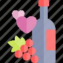 date, love, night, romantic, wine icon