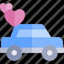 car, date, love, night, romantic icon