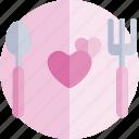 date, dinner, love, night, romantic icon