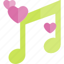 date, love, night, romantic, song icon