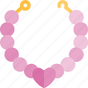 date, love, necklace, night, romantic icon
