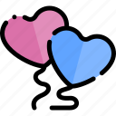 balloons, date, love, night, romantic icon