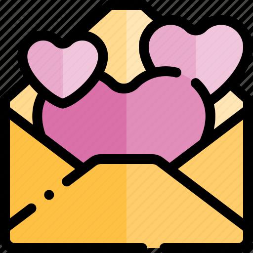 date, letter, love, night, romantic icon