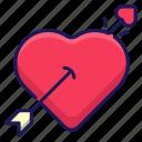 arrow, love, heart, valentine