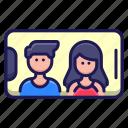 couple, selfie, relationship, romantic