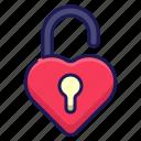 love, romance, lock, heart