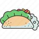 taco, tortilla, food, meal, mexican