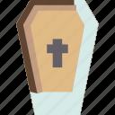 coffin, death, cemetery, funeral, halloween