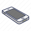 apple, iphone, mobile, phone, smartphone, telephone icon