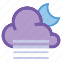 alt, cloudy, day, fog, forecast, moon, weather icon