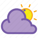 cloudy, day, cloud, forecast, sun, weather