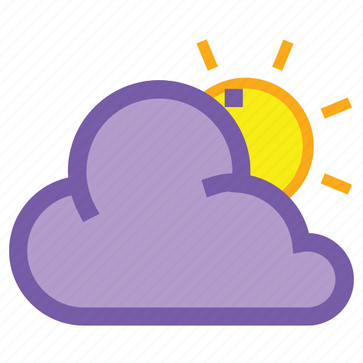 cloud, cloudy, day, forecast, sun, weather icon