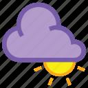 coludy, day, high, cloud, forecast, sun, weather