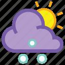 day, hail, cloud, forecast, sleet, sun, weather