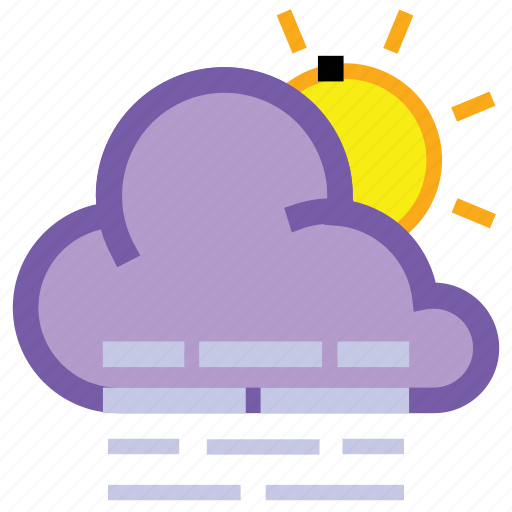 cloud, day, fog, forecast, haze, sun, weather icon
