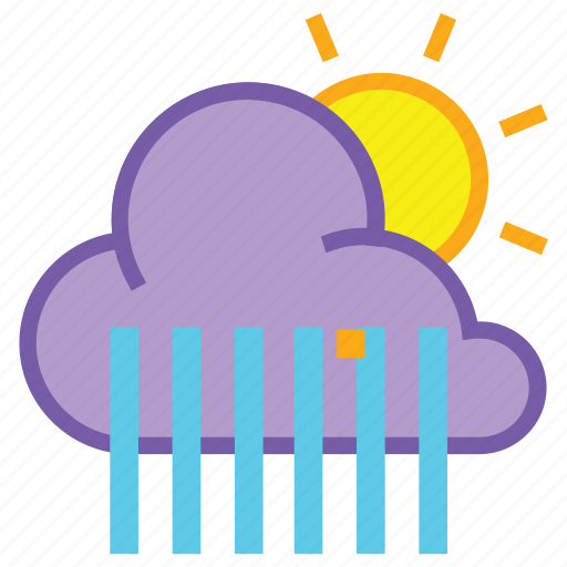 cloud, day, forecast, rain, shower, showers, weather icon