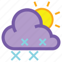 day, forecast, snow, weather, wind, winter icon