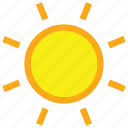 clear, day, forecast, sun, sunny, weather icon