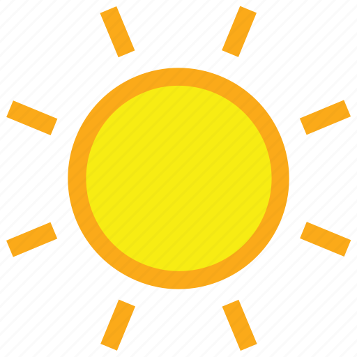 Clear, day, forecast, sun, sunny, weather icon  Clear, day, for...