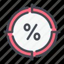 debt, discount, hot, percent, percentage, target