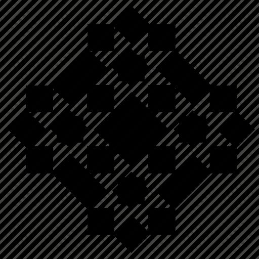 complex, floor, geometry, ornament, square icon