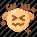 deer, embarrassing, emoji, emoticon, shocked, upset, winter