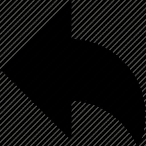 arrow, back, previous, revert, rotate ccw, rotate left, undo arrow icon