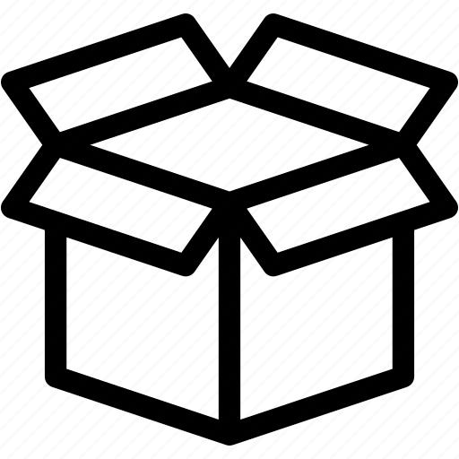 box, delivery, gift, opened box, package, present icon