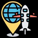 air, cargo, airmail, express, worldwide icon